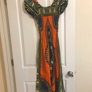 African print dress (stretchy)